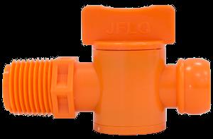 Резьбовое основание с краном 4206 оранжевое