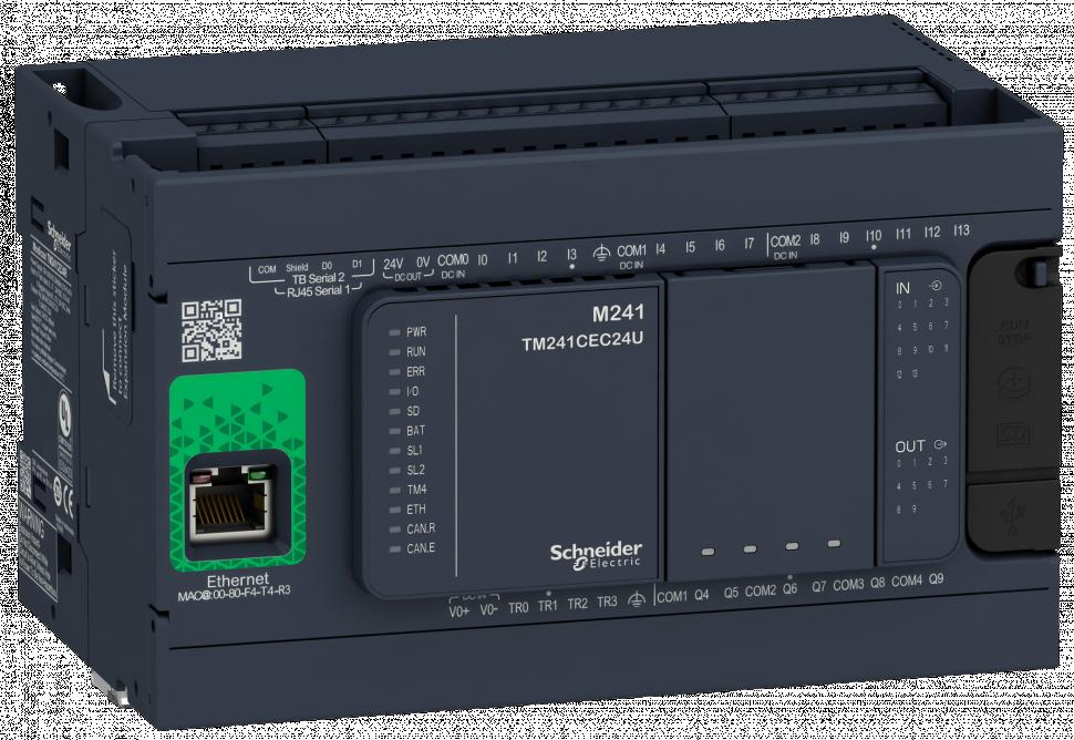 Schneider Electric Modicon M241 моноблочный контроллер +